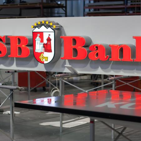 BSB Bank volumetric letters