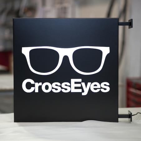 CrossEyes flag sign